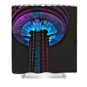Skylon In Purple Shower Curtain