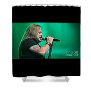 Skynyrd-johnny-7494 Shower Curtain