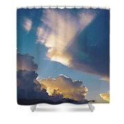 Skyscape - Puffy White Clouds Shower Curtain