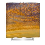 Skyscape - Rocky Gold Shower Curtain