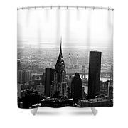 Skyscraper Shower Curtain by Linda Woods