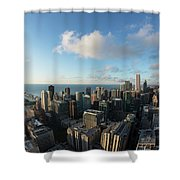 Skyscrapers In A City, Chicago, Cook Shower Curtain