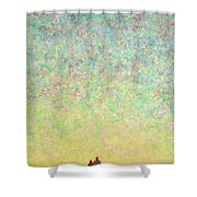 Skywatching In A Painting Shower Curtain