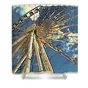 Skywheel At Niagara View Shower Curtain