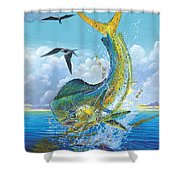Slammer Off0017 Shower Curtain by Carey Chen