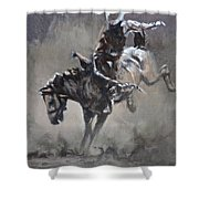 Slapping Leather Shower Curtain
