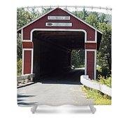 Slate Bridge Shower Curtain