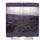 The Industrial Landscape Shower Curtain