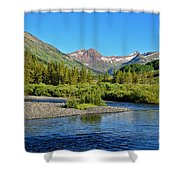 Slate River View Shower Curtain