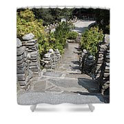 Slate Steps Shower Curtain