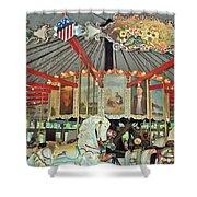 Slater Park Carousel Rounding Board Shower Curtain