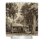 Slave Quarters Sepia Shower Curtain