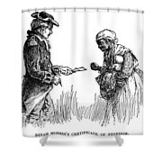 Slavery: Manumission, 1777 Shower Curtain by Granger