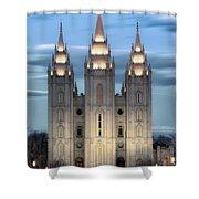 Slc Temple Blue Shower Curtain