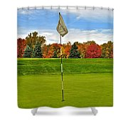 Sleep Hollow Brecksville Ohio Shower Curtain by Frozen in Time Fine Art Photography
