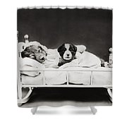 Sleep Over Shower Curtain by Aged Pixel