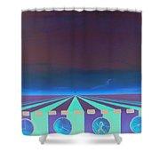 Sleep Wake Rise Shower Curtain