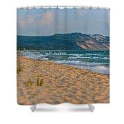 Sleeping Bear Dunes At Sunset Shower Curtain