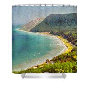 Sleeping Bear Dunes Lakeshore View Shower Curtain