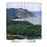 Sleeping Bear Dunes Overlook Shower Curtain