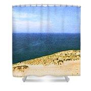 Sleeping Bear Dunes Panorama Shower Curtain