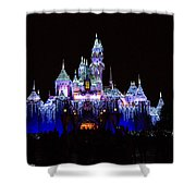 Sleeping Beauties Castle At Christmas Shower Curtain