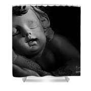 Sleeping Cherub #1bw Shower Curtain