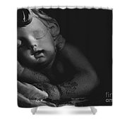Sleeping Cherub #2bw Shower Curtain