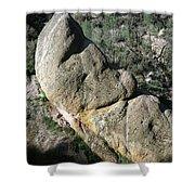 1b6434-sleeping Giant Rock Shower Curtain