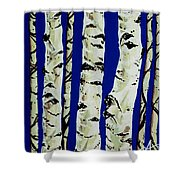 Sleeping Giants Shower Curtain