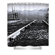 Sleeping On The Tracks Shower Curtain