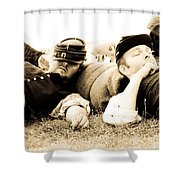 Sleeping Soldiers Shower Curtain
