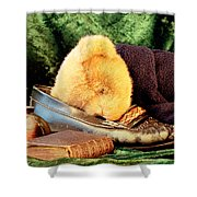 Sleeping Teddy Shower Curtain