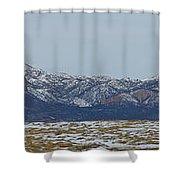 Sleeping Ute Mountain Shower Curtain