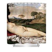 Sleeping Venus Shower Curtain