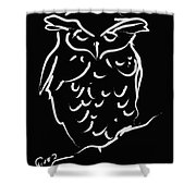 Sleepy Owl Shower Curtain