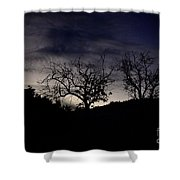 Sleepy Silhouette  Shower Curtain