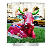 Cow Parade N Y C 2000 - Sleepy Time Cow Shower Curtain