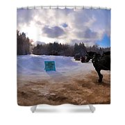 Sleigh Rides Shower Curtain