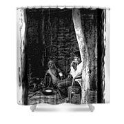 Slice Of Life Mud Oven Chulha Tandoor Indian Village Rajasthani 1d Shower Curtain