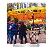 Slice Of Life Nyc-herald Square Shower Curtain