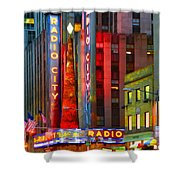 Slice Of Life Nyc-holiday Hustle Shower Curtain