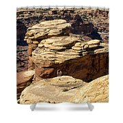 Slickrock Canyon Formations Shower Curtain