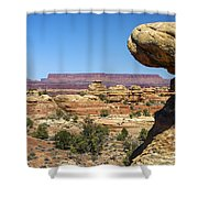 Slickrock Canyon Trail View Shower Curtain