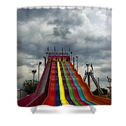 Slide Me To The Moon Shower Curtain