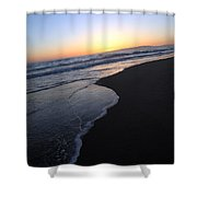 Sliding Down - Sunset Beach California Shower Curtain