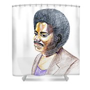 Slim Ali Shower Curtain