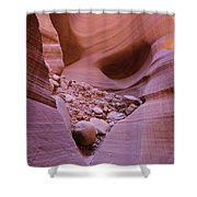 Slip Rock In Antelope Canyon Shower Curtain