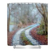 Slippery Travels Shower Curtain