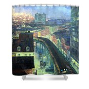 Sloan's The City From Greenwich Village Shower Curtain